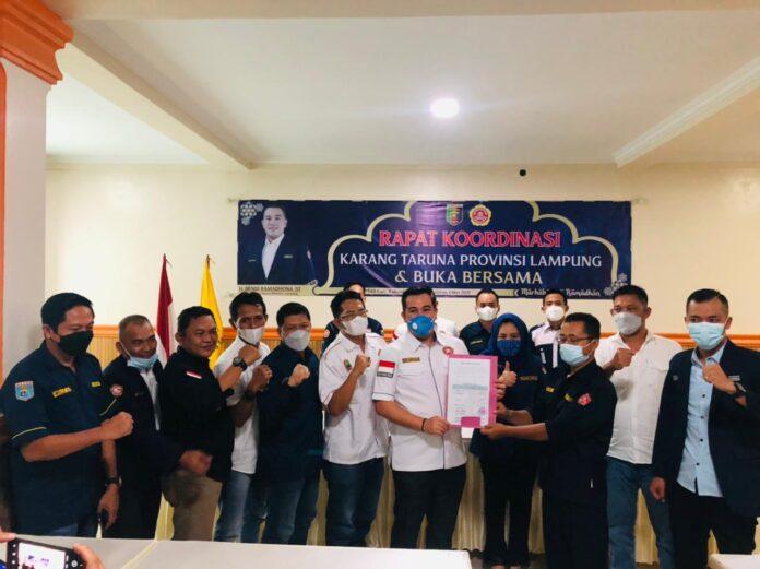 Dua Belas Ketua Karang Taruna Kabupaten/Kota Dukung Dendi Ramadhona Jadi Ketua Karang Taruna Provinsi Lampung