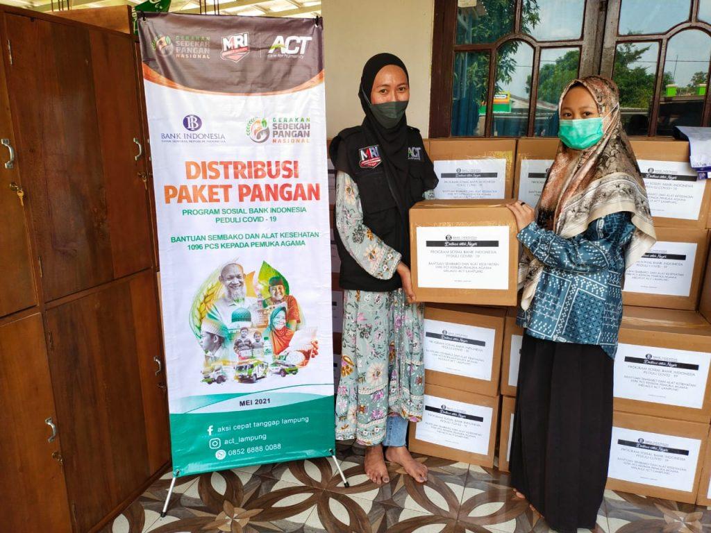 Bank Indonesia KPW Lampung Salurkan 257 Paket Sembako Tahap 2 Untuk Pondok Pesantren Melalui ACT Bandar Lampung
