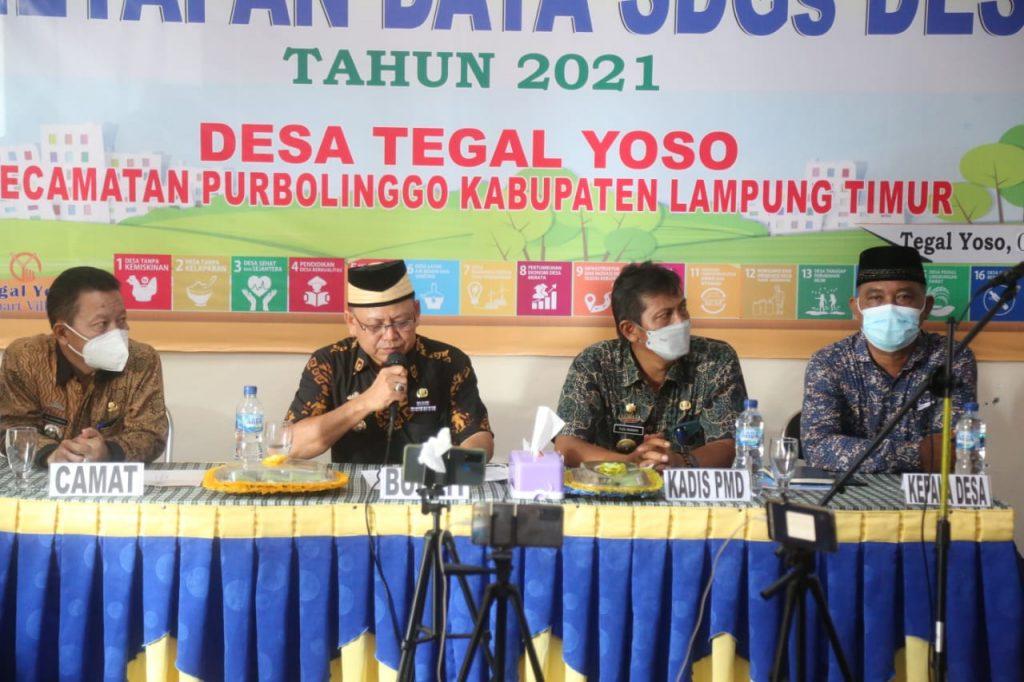 Bupati Lampung Timur Berharap Pemerintah Desa Hingga Kabupaten Mengambil Keputusan Dan Kebijakan Berdasarkan Data Yang Akurat