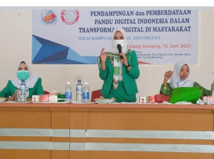 PW Fatayat NU Lampung Hadiri  Pelatihan UMKM Ekonomi Digital Yang Digelar PC Fayatat NU Tulang Bawang
